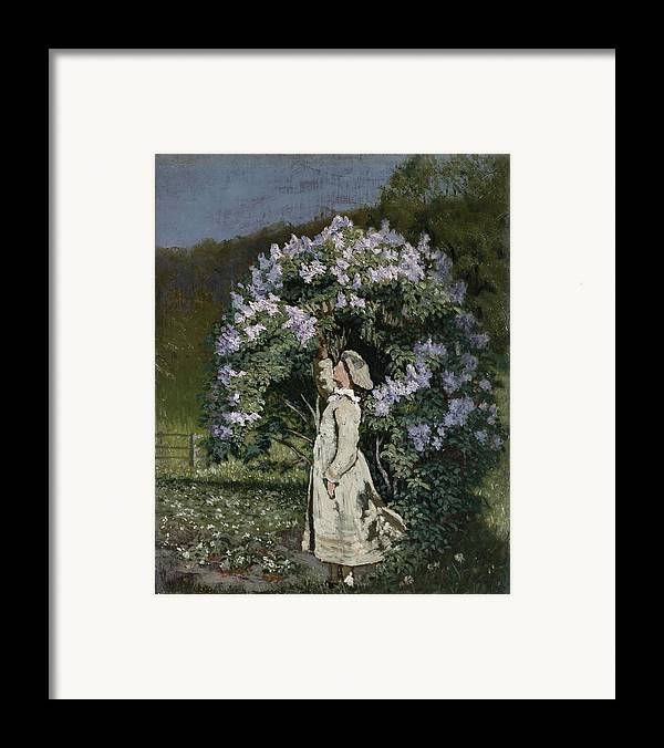 Ovr371683 Framed Print featuring the photograph The Lilac Bush by Olaf Isaachsen