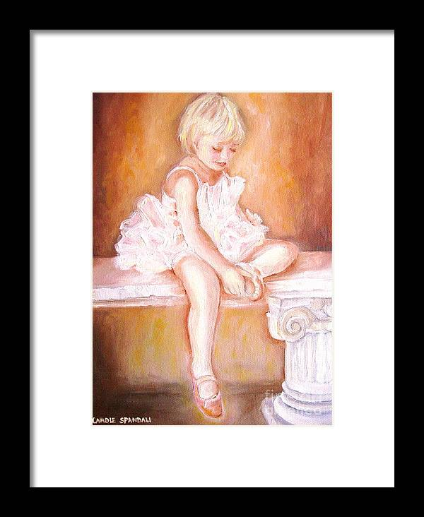 Ballerinas Framed Print featuring the painting The Little Ballerina by Carole Spandau