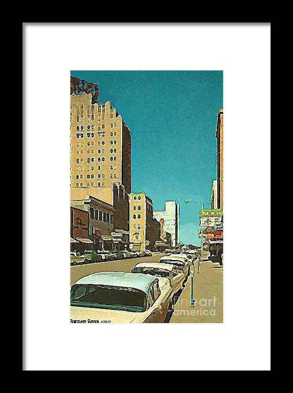 Abilene Tx Framed Print featuring the painting The Majestic Theatre In Abilene Tx 1958 by Dwight Goss