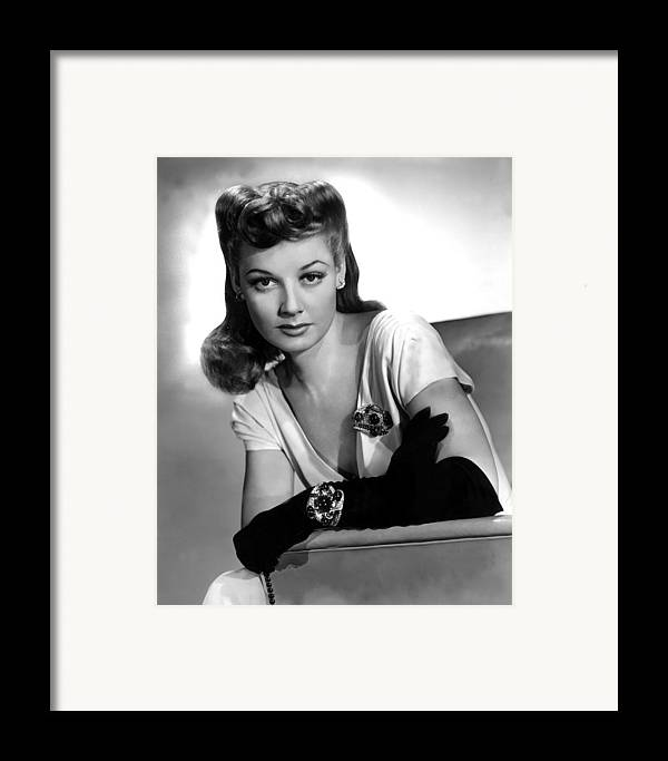 1940s Portraits Framed Print featuring the photograph The Man Who Came To Dinner, Ann by Everett