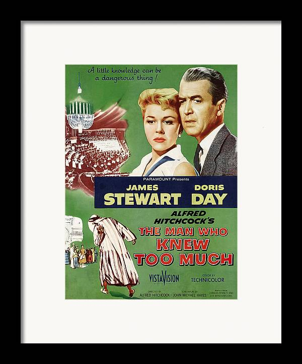 1956 Movies Framed Print featuring the photograph The Man Who Knew Too Much, Top by Everett