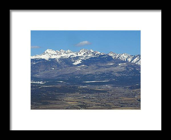 Mancos Valley Framed Print featuring the photograph The Mancos Valley by FeVa Fotos