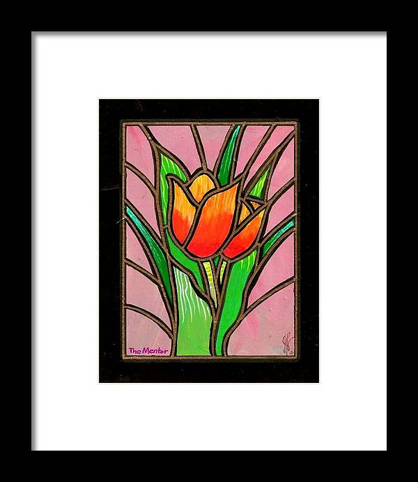 Floral Framed Print featuring the painting The Mentor by Jim Harris