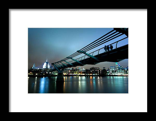 Millennium Framed Print featuring the photograph The Millennium Bridge by Andy Linden