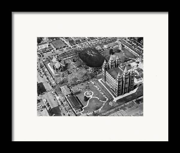 1940s Candid Framed Print featuring the photograph The Mormon Tabernacle, In Salt Lake by Everett