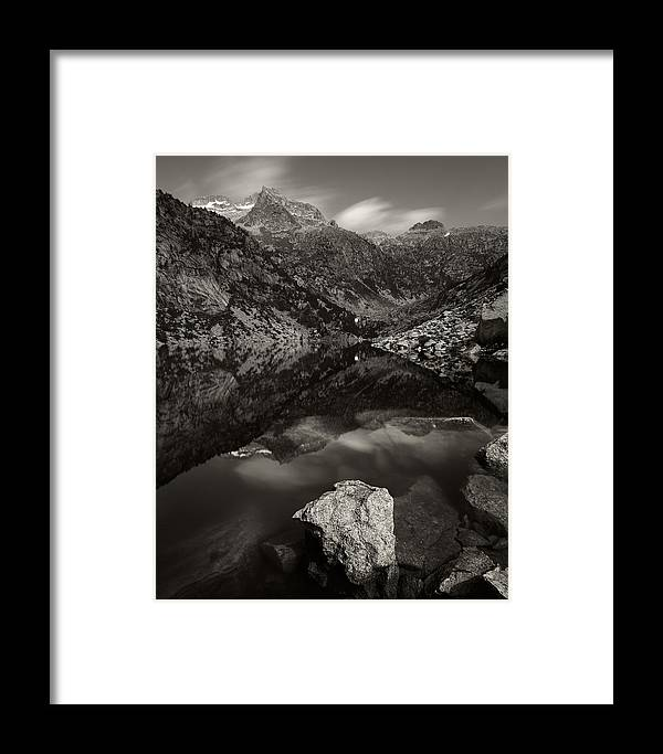 Aiguestortes Framed Print featuring the photograph The Mountains Of Aiguestortes by Mark Haley