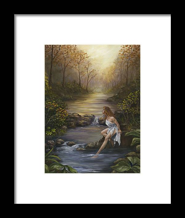 Landscape Framed Print featuring the painting The Muse by Anne Kushnick