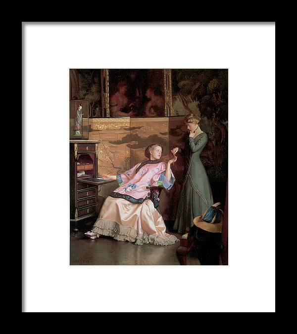 William Mcgregor Paxton Framed Print featuring the painting The New Necklace by William McGregor Paxton