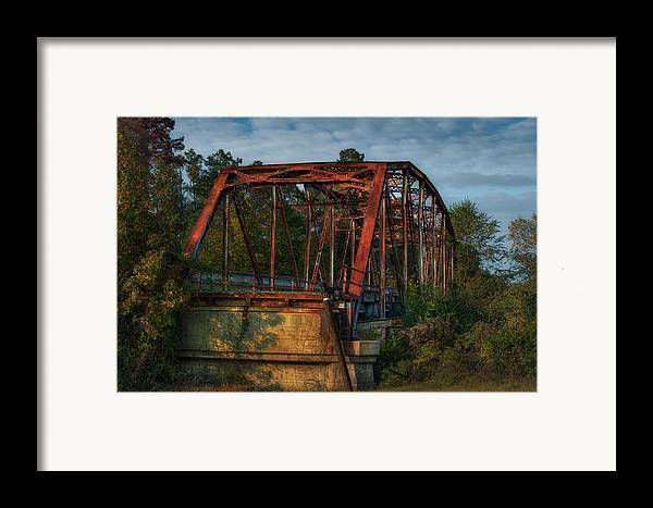Rural Framed Print featuring the photograph The Old Brooklyn Bridge by Brenda Bryant