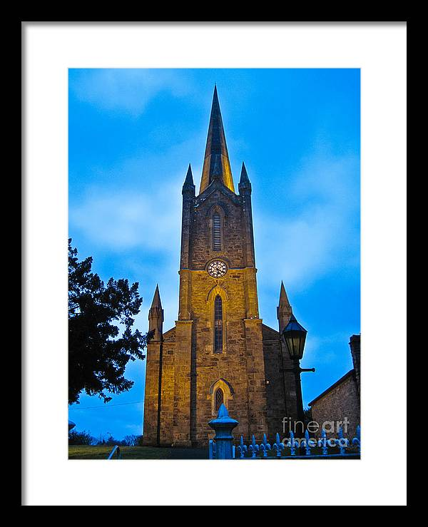 Ireland Framed Print featuring the photograph The Old Church At Donegal Town by Black Sun Forge