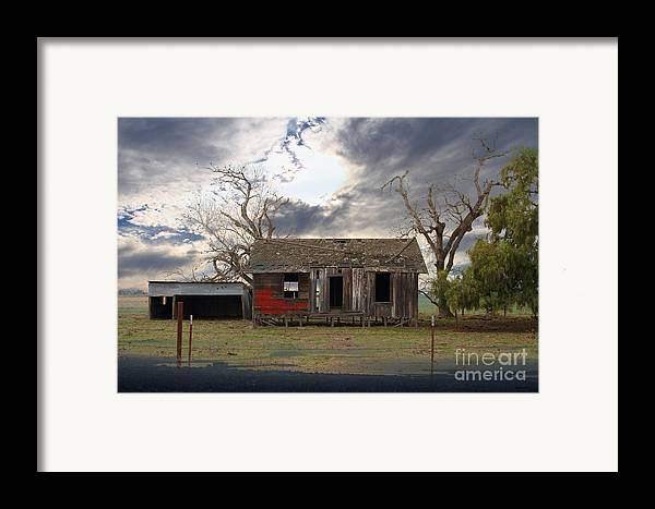 Dream Framed Print featuring the photograph The Old Farm House In My Dreams by Wingsdomain Art and Photography