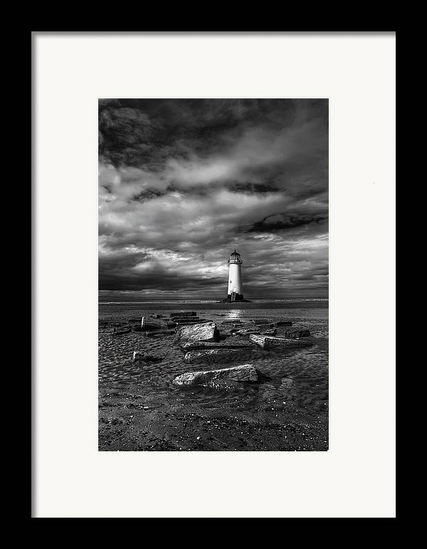 Beach Framed Print featuring the photograph The Old Lighthouse by Adrian Evans