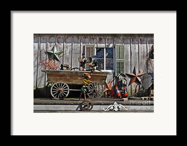 The Old Shed Framed Print featuring the photograph The Old Shed by Mary Machare