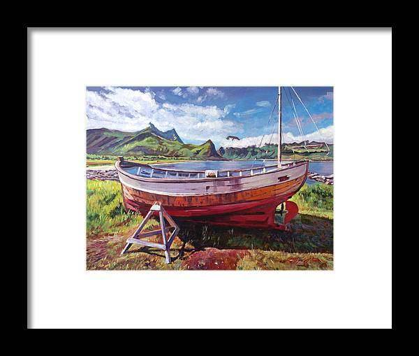 Landscape Framed Print featuring the painting The Old Timer by David Lloyd Glover