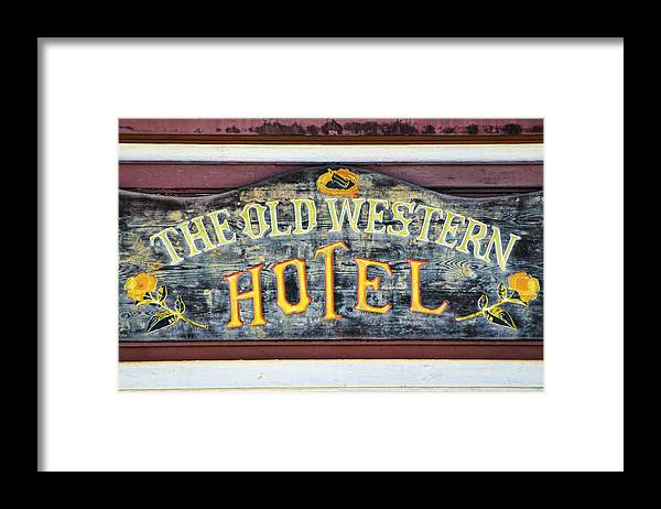 Hotel Framed Print featuring the photograph The Old Western Hotel by Diego Re