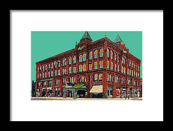 Theaters Framed Print featuring the painting The Oliver Theatre In Lincoln Ne In 1910 by Dwight Goss