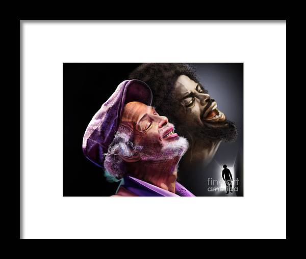 Gil Scot Heron Framed Print featuring the painting The Other Side-Gil Scott Finally Going Home by Reggie Duffie