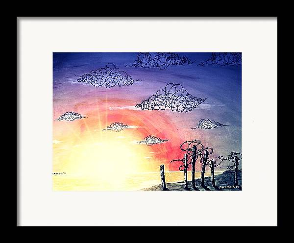 The Pain Framed Print featuring the digital art The Pain Of Sky That Will Never Be Calm by Paulo Zerbato