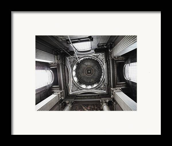 Architecture Framed Print featuring the photograph The Painted Hall by Anna Villarreal Garbis