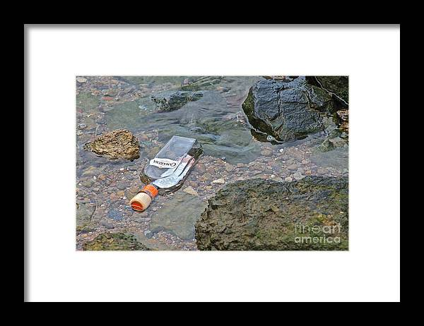 Trash Framed Print featuring the photograph The Party's Over by Lori Leigh