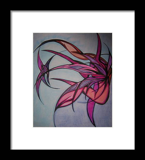Abstract Framed Print featuring the drawing The Phoenix by Tara Francoise