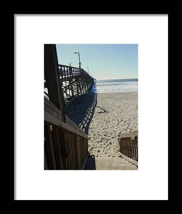 Beach Framed Print featuring the photograph The Pier by Beebe Barksdale-Bruner