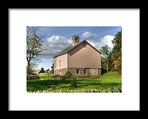 Barn Framed Print featuring the photograph The Pink Barn by Donna Lee Blais