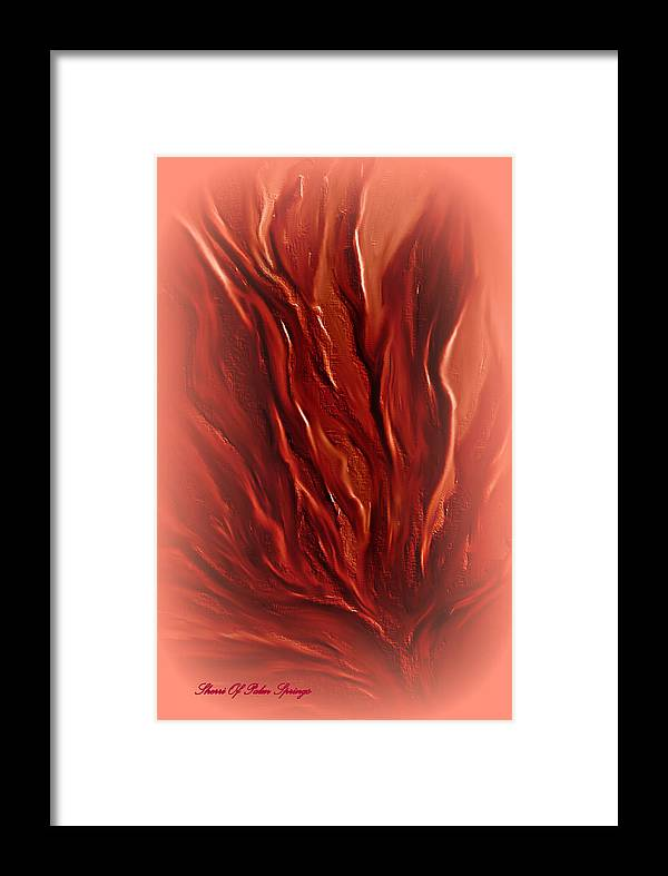 Abstract Digital Framed Print featuring the painting The Planet Of Fire by Sherri's - Of Palm Springs