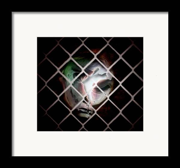 Man Framed Print featuring the digital art The Prisoner by Gun Legler