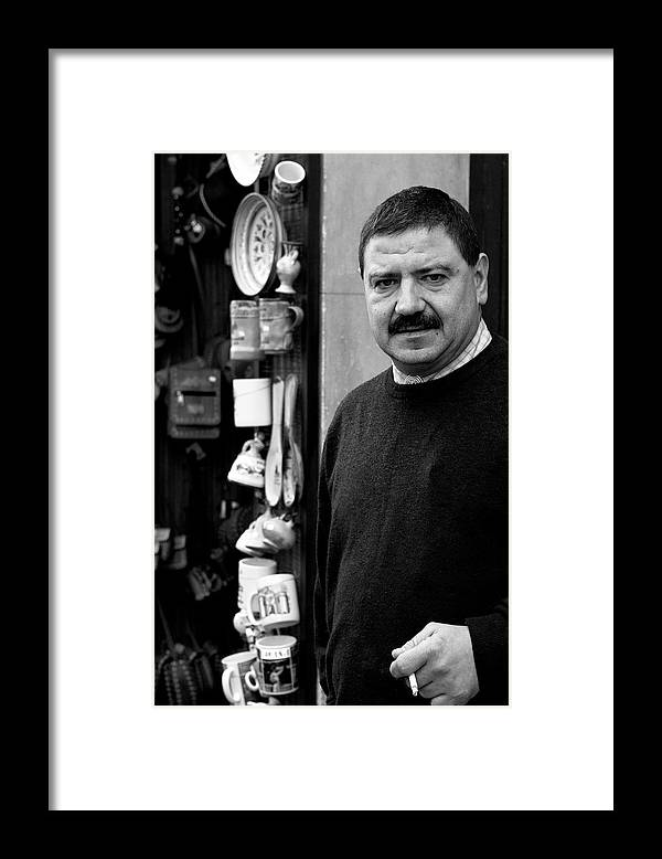Shopkeeper Framed Print featuring the photograph The Proprietor by Lorraine Devon Wilke