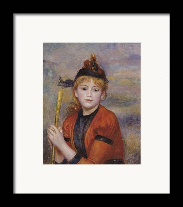 The Rambler Framed Print featuring the painting The Rambler by Pierre Auguste Renoir