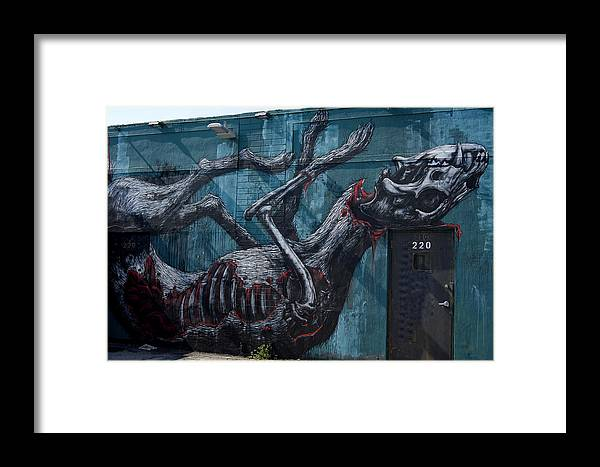 Graffiti Framed Print featuring the photograph The Rat Lost by Armando Perez