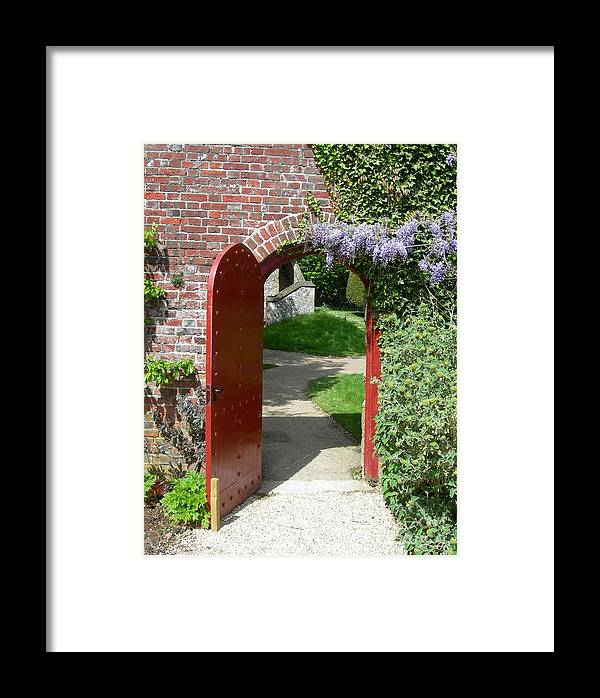 Red Framed Print featuring the photograph The Red Door by Robert Harris