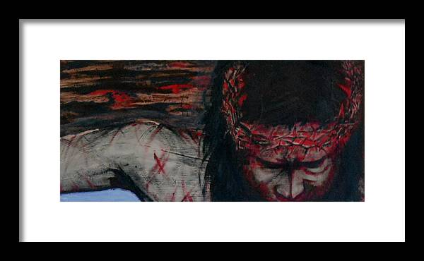 Jesus Framed Print featuring the painting The Redemption by Cheppy Japz