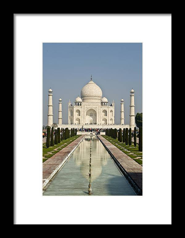 India Framed Print featuring the photograph The Reflecting Pool In The Charbagh Or by Lori Epstein