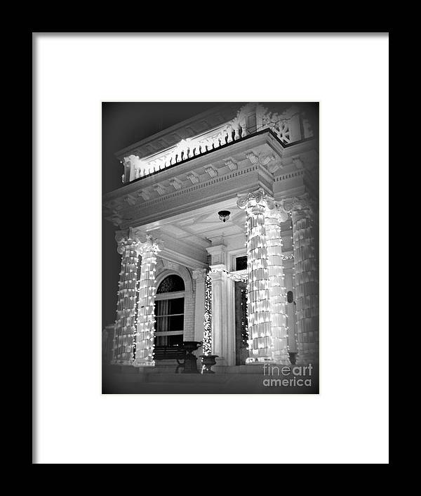 Black And White Framed Print featuring the photograph The Regular Way Then ... by Nancy Dole McGuigan