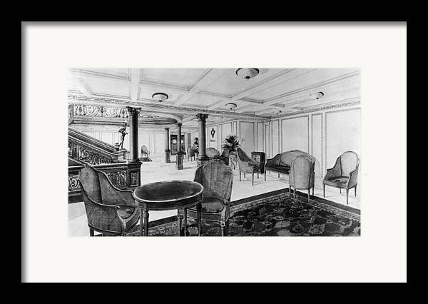 1910s Framed Print featuring the photograph The Restaurant Reception Room by Everett