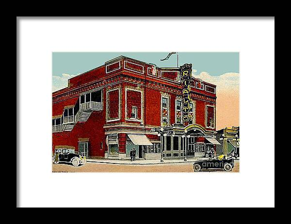 Brooklyn Ny Framed Print featuring the painting The Rialto Theatre In Brooklyn N Y In The 1920's by Dwight Goss