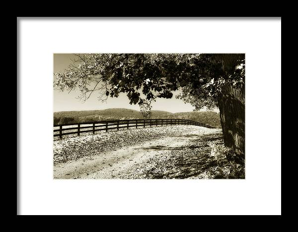 Photo Framed Print featuring the photograph The Road Home -2 by Alan Hausenflock