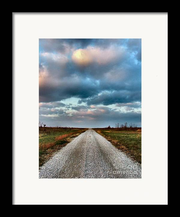 Julie Dant Photography Framed Print featuring the photograph The Road To Somewhere by Julie Dant