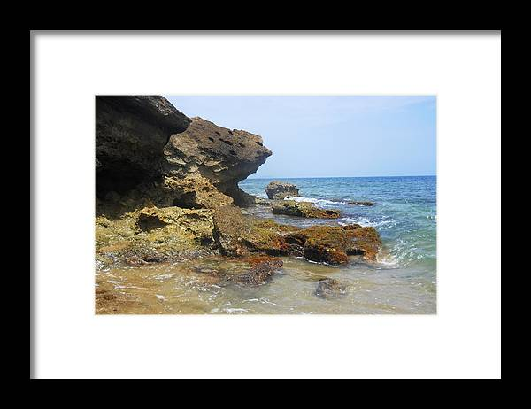 Beach Framed Print featuring the photograph The Rocks At Rincon by Aimee Bruno