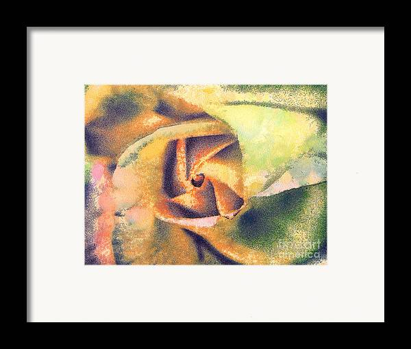 Odon Framed Print featuring the painting The Rose by Odon Czintos