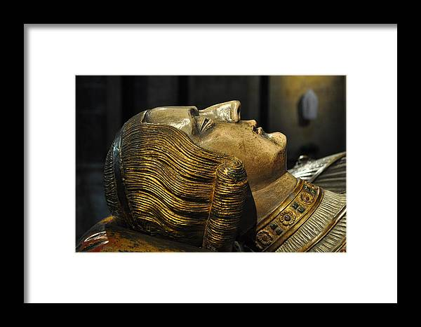 Tomb Framed Print featuring the photograph The Royal Tomb Of Count Gerard Van Gelder Iv by Mary Machare