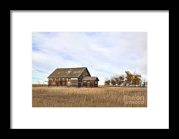 Western Framed Print featuring the photograph The Schoolhouse by Brian Ewing
