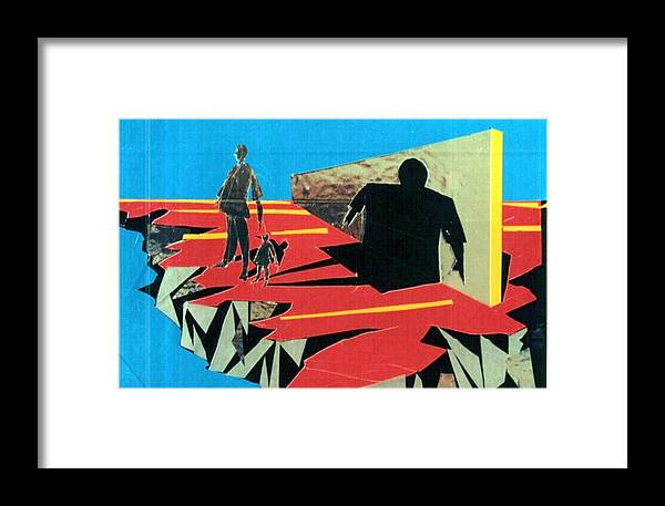 Shadows Framed Print featuring the mixed media The Shadow Of Some Small Men by Bob Usoroh