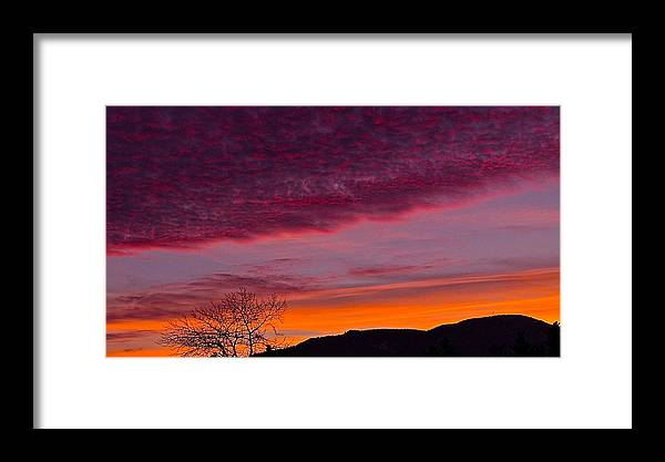 Mt Benson Sunset Framed Print featuring the photograph The Shan by Kevin Fairbridge