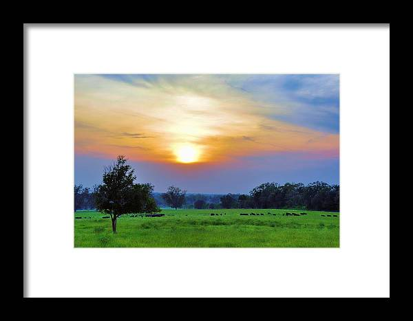 Landscapes Framed Print featuring the photograph The Sky Was Drunk by Jan Amiss Photography