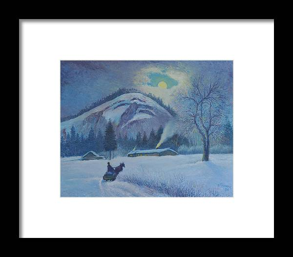 Canadian Framed Print featuring the painting The Sleeping Chief by Pierre Lamare