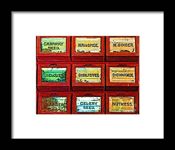 Spice Framed Print featuring the photograph The Spice Of Life by Colleen Kammerer