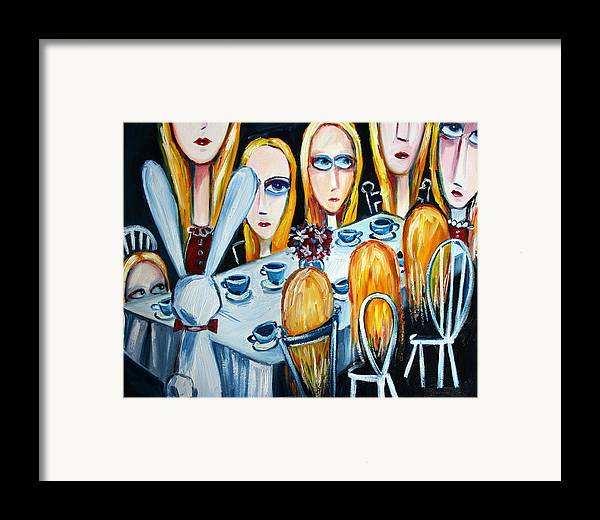 Alice Framed Print featuring the painting The States Of Alice by Leanne Wilkes